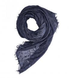 Armani Jeans Blue Logo Modish Scarf