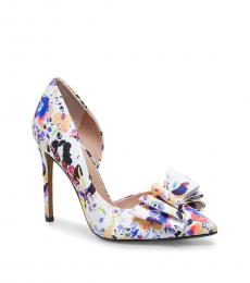 Betsey Johnson White Floral Prince Heels