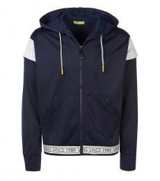 Versace Jeans Dark Blue Logo Tape Jacket