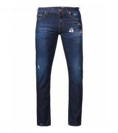 Love Moschino Dark Blue Regular Fit Jeans
