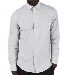 Armani Jeans Light Grey Awning Striped Shirt