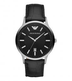 Emporio Armani Black Renato Black Dial Watch