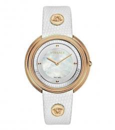 Versace White Thea Round Watch