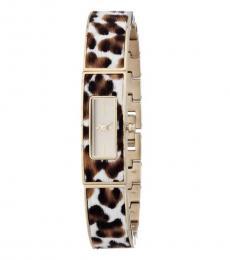 DKNY Leopard Rectangle Watch