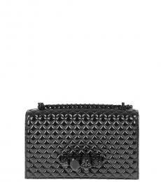 Alexander McQueen Black Quilted Four Ring Mini Shoulder Bag