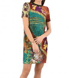 Dsquared2 Multicolor Floral-Print Mini Dress