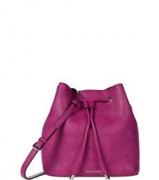 Calvin Klein Pink Gabrianna Small Bucket Bag