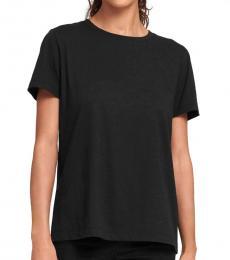 Black Soild Casual T-Shirt