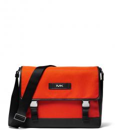 Michael Kors Bright Orange Woven Large Messenger Bag
