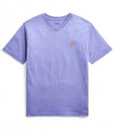 Little Boys Maidstone Purple Heather V-Neck T-Shirt