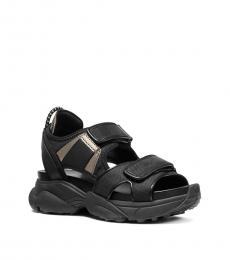 Michael Kors Black Harvey Canvas Sandals