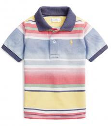 Ralph Lauren Baby Boys Multicolor Striped Mesh Polo