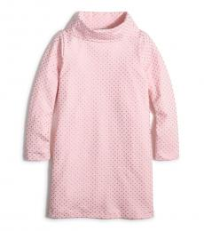 J.Crew Little Girls Pink Gold Turtleneck Knit Dress