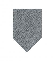 DKNY Silver Distressed Street Slim Tie
