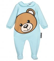 Moschino Baby Girls Sky Big Teddy Footed Jumpsuit