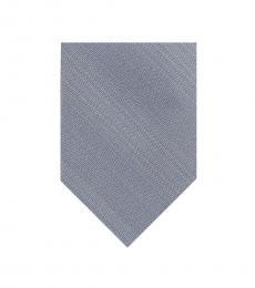 DKNY Silver Grey Sleek Stripe Slim Tie