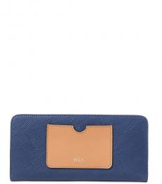 Ralph Lauren Marine Blue Lindley Snap Wallet