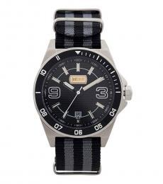 Just Cavalli Black-Grey Two Tone Watch