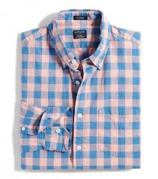 Blue Gingham Regular Flex Shirt