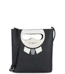 Karl Lagerfeld Black Maybelle Medium Bucket Bag