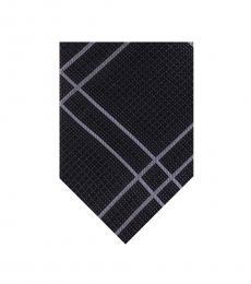 DKNY Black Linear Plaid Tie