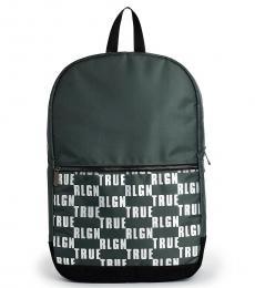 Military Green Logo Block Large Backpack
