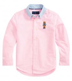 Ralph Lauren Little Boys New Rose Preppy Bear Shirt