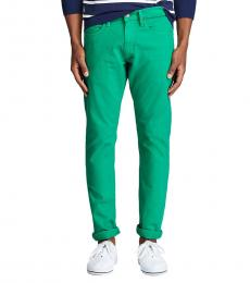 Ralph Lauren Green Varick Slim Straight Jean