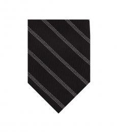 DKNY Black Stripe Slim Tie