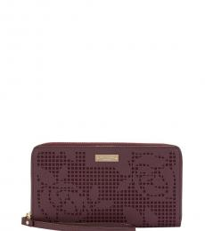 Kate Spade Maroon New York Zip Wallet