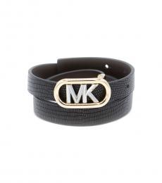 Michael Kors Black Reversible Embossed Belt