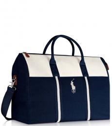 Ralph Lauren Blue/White Weekender Large Duffle Bag