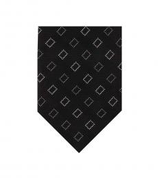 DKNY Black Geometric City Diamond Tie