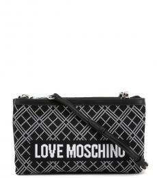 Love Moschino Black Textured Medium Crossbody Bag