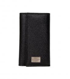 Dolce & Gabbana Black Flap Key Holder