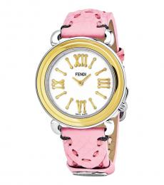 Fendi Light Pink Selleria Mother Of Pearl Dial Watch
