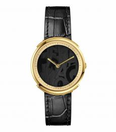 Salvatore Ferragamo Black Logomania Gleamy Watch