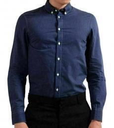 Blue Modern Fit Casual Shirt