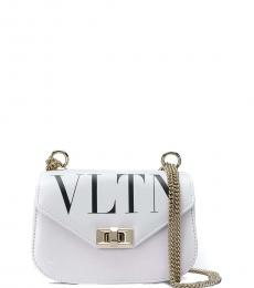 White Logo Mini Crossbody