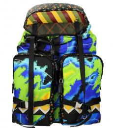 Multi color Graphic Large Backpack