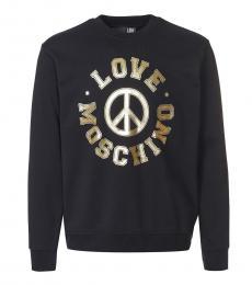 Love Moschino Black Gold Logo Sweatshirt