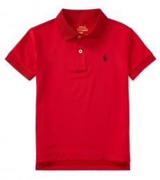 Ralph Lauren Little Boys Old Glory Red Performance Jersey Polo