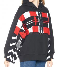 Stella McCartney Black Logo Football Hoodie