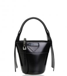Prada Black Solid Mini Bucket Bag