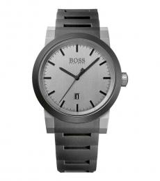 Hugo Boss Grey Neo Silicone Strap Watch