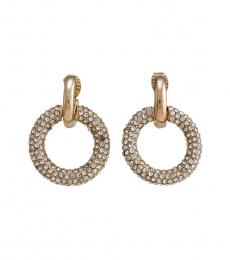 Gold Circle Clip-On Earrings