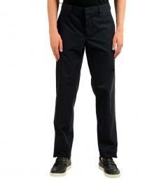 Navy Blue Wool Casual Pants