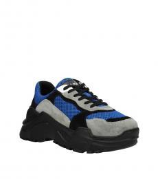 Balmain Blue Front Logo Sneakers