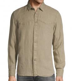 Diesel Khaki Plan A Western Shirt