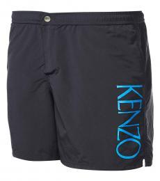 Kenzo Black Logo Pullover Shorts